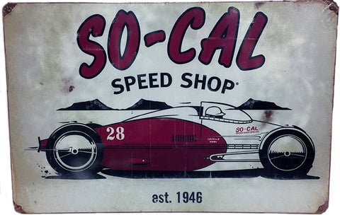 So Cal Belly Tank Profile Metal Sign