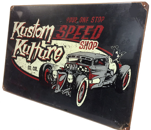 So Cal Kustom Kulture Metal Sign