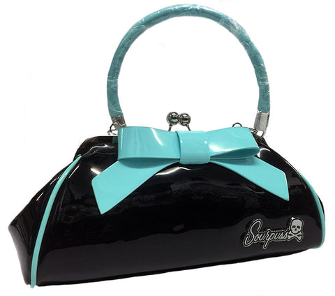 Sourpuss Floozy Purse Black & Teal