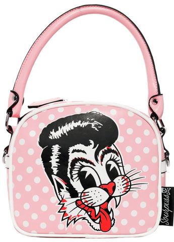 Stray Cats Pink Handbag
