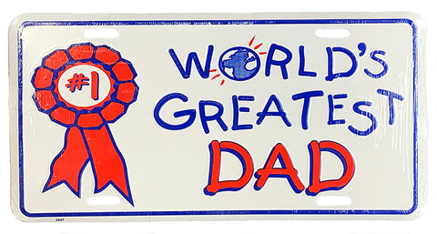 #1 World's Greatest Dad License Plate