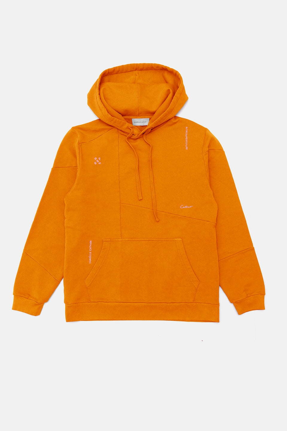 RSF x DC Deconstructed Hoodie Rusty Orange