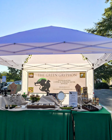 The Green Gryphon booth at The Chesapeake Farmer's Marketplace