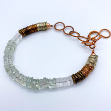Load image into Gallery viewer, Green Amethyst with Quartz Bracelet in Copper