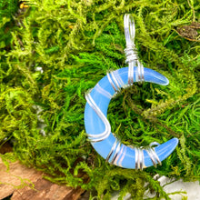 Load image into Gallery viewer, Opalite Crescent Moon Pendant in Sterling Silver