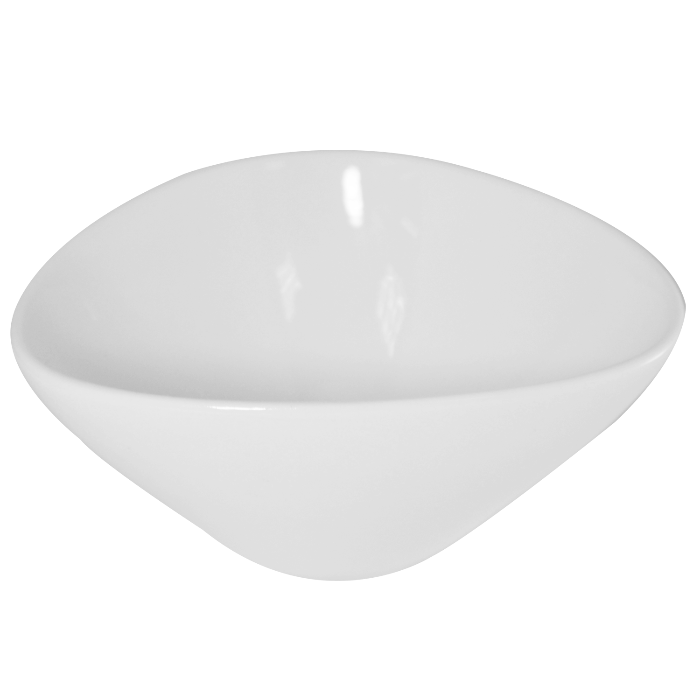 BOWL TRIANGULAR 10X8.8 CM BLANCO MINIATURA