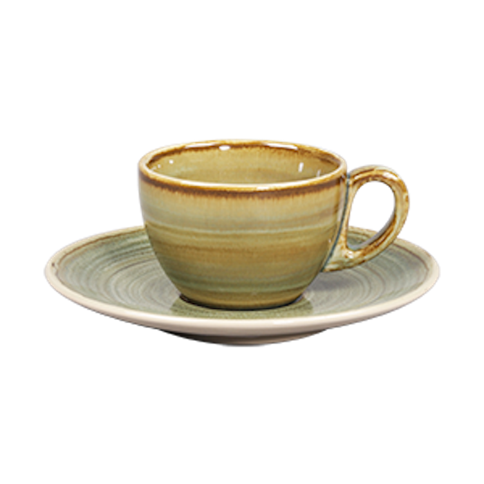 TAZA CAFE 7 3/4 OZ VERDE EMERALD SPOT