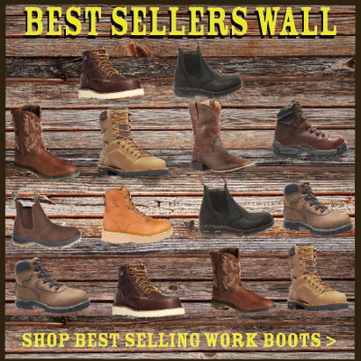MEN'S WORK BOOTS:  OUR BEST SELLERS LIST