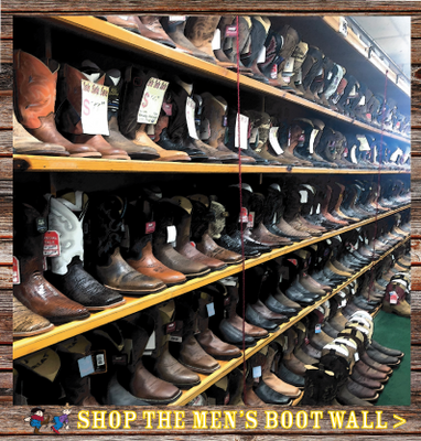 MEN'S WESTERN BOOT WALL