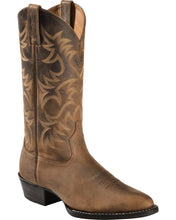 Load image into Gallery viewer, Ariat 10002204 Men's Heritage R-Toe Western Boots Brown