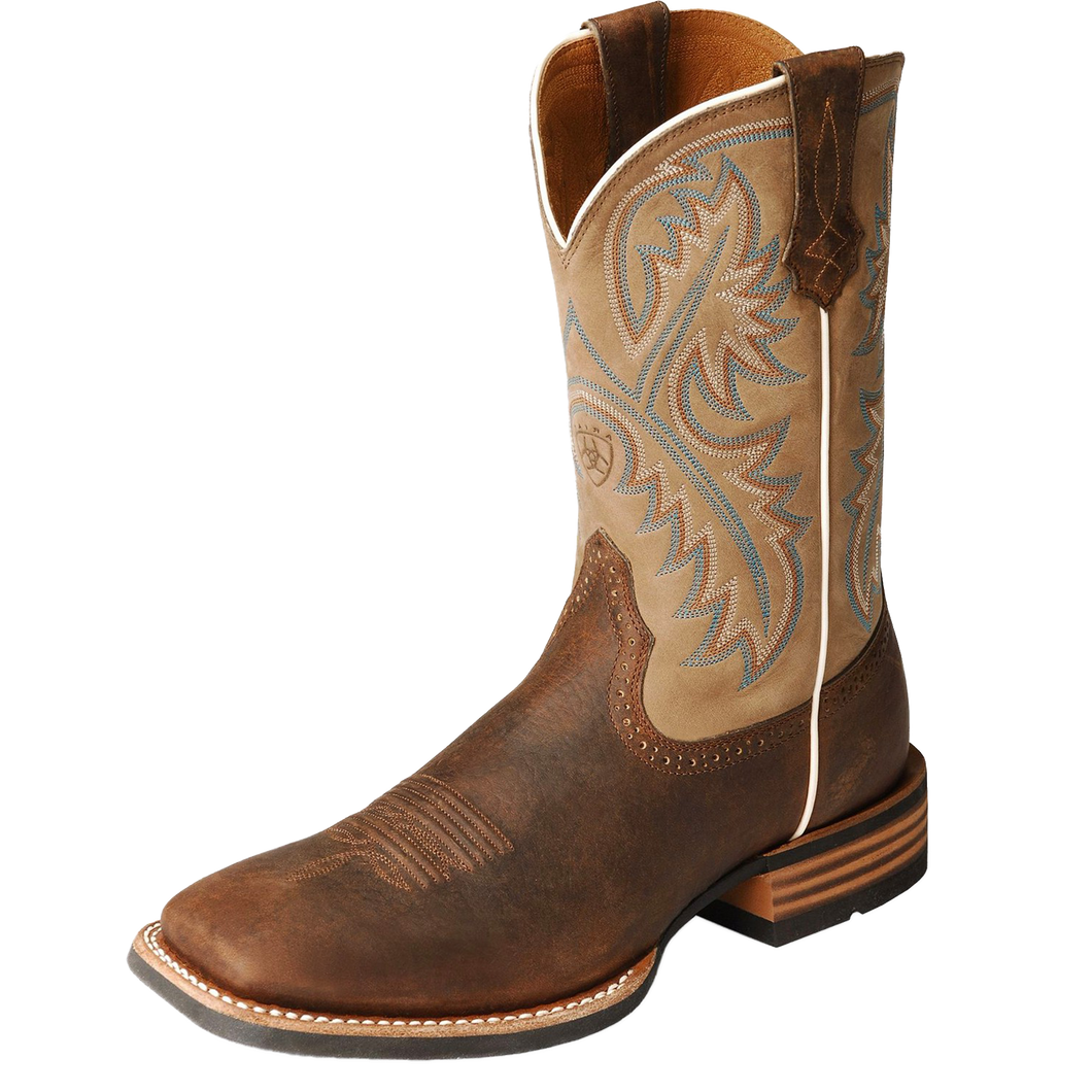 Ariat 10002224 Men's Quickdraw Western Boot Tumbled Bark