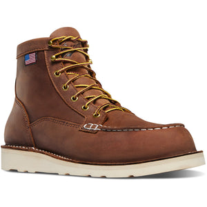 "DANNER 15573 Men's Bull Run 6"" Moc Toe Work Boot"