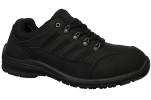 Work Zone N473BLK Mens Lace Up Soft Toe Work Shoe Black