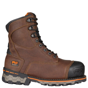 "Timberland #TB089628214 Men's Boondock 8"" Composite Toe Waterproof Brown"