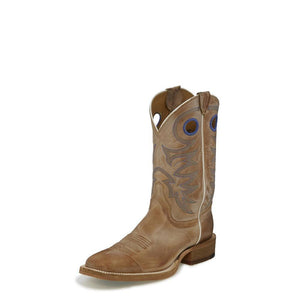 "JUSTIN # BR744 MENS 11"" BENT RAIL RIDING CADDO BEIGE"