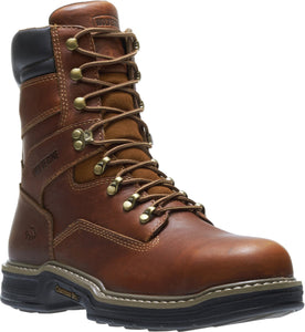 "WOLVERINE #W02423 MENS RAIDER 8"" EH RATED STEEL TOE WORK BOOT"