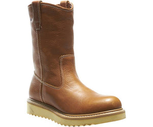 "WOLVERINE #W08285 MENS 10"" WELLINGTON CREPE SOLE SOFT TOE WORK BOOT"