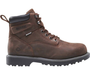 "Wolverine W10633 Men's Floorhand Steel Toe 6"" Boot Brown"