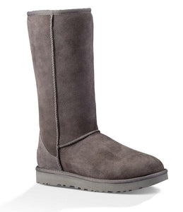 UGG WOMEN'S CLASSIC II TALL GRAY SHEEPSKIN