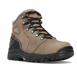 "DANNER #13853 WOMENS  VICIOUS 4"" COMPOSITE TOE BROWN/GREEN WORK BOOTS"