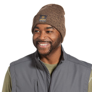 Ariat 10032966 Mens Rebar Dark Brown Beanie