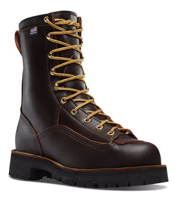 "DANNER #10600 MENS 8"" RAIN FOREST SOFT TOE BOOT BROWN"