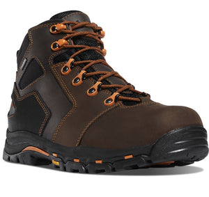 "DANNER #13858 MENS VICIOUS 4.5"" SOFT TOE BOOT ORANGE/BROWN"