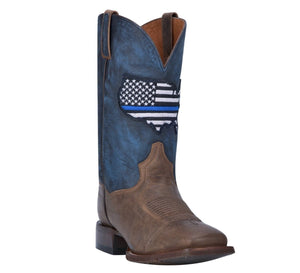 DAN POST #DP4515 | MENS  THIN BLUE LINE BROWN