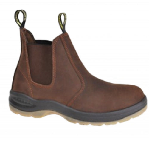 Work Zone #N660  Men's Slip On Brown Work Boot
