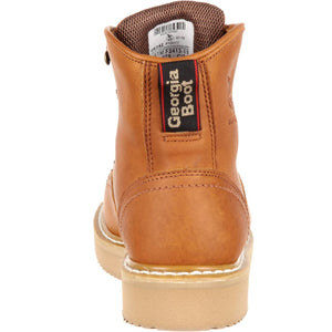 "Georgia # G6342  Men 's 6"" Steel Toe Barracuda Gold Work Boot"