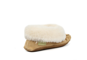 Superlamb Women's Sheepskin Moccassin Slipper