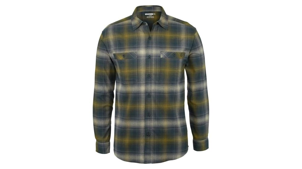 Wolverine W1206400-446 Mens Grayson Flannel Blue