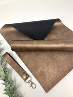METALLIC BROWN faux leather sheets listing F008