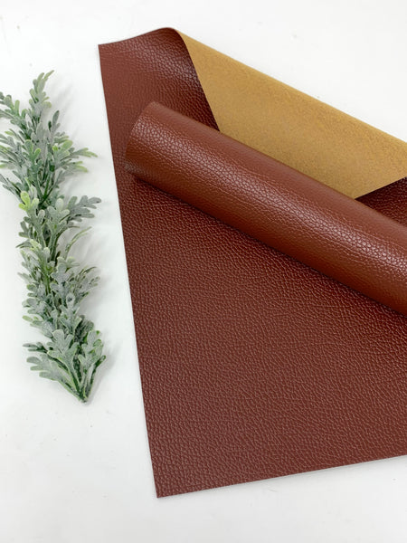 BROWN 0.8 mm faux leather sheets #V113