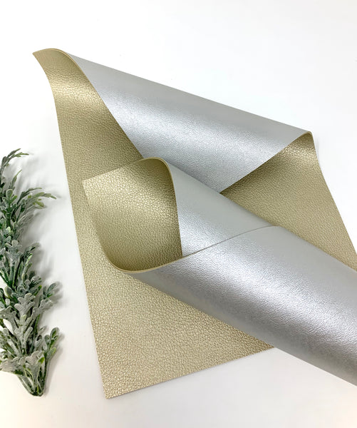 GOLD/SILVER Double Sided faux leather sheets