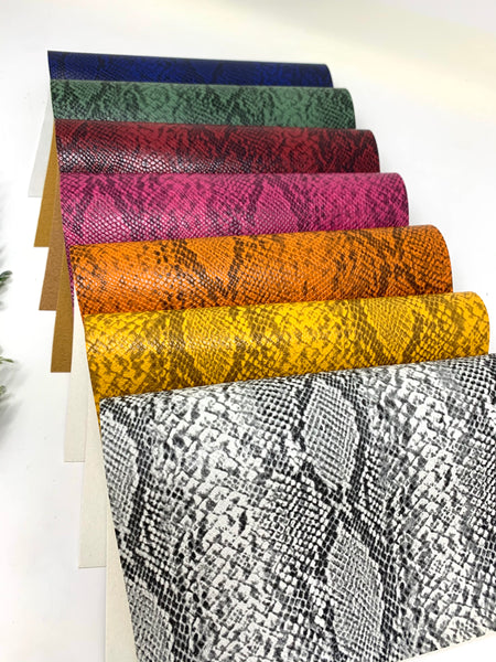 Snake Texture faux leather sheets. AH2257