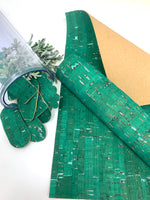 Green color cork leather sheets