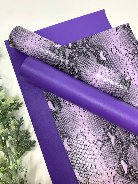 Purple Snake designs and faux leather sheets