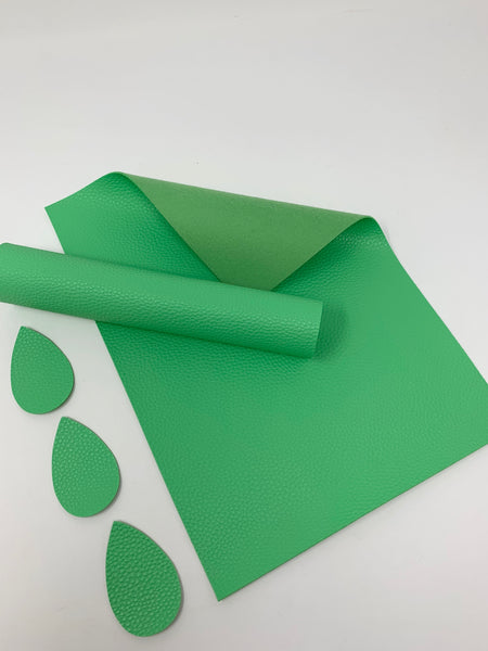 FS-900 Grass Green litchi design faux leather sheets. Craft supplies leather hair bows supplies