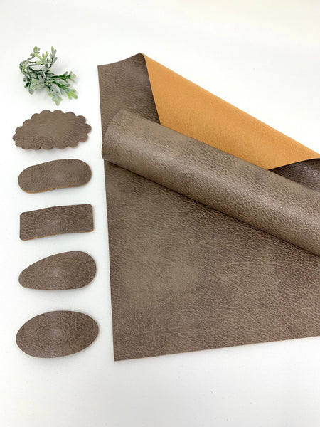 LIGHT BROWN texture faux leather sheets  Listing # K6880