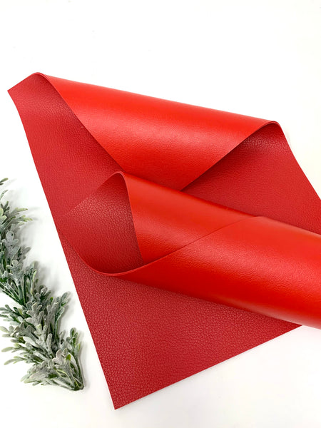 RED/RED Double Sided faux leather sheets