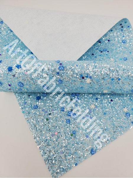 ICE BLUE Glitter sheets with animals and flowers.P543