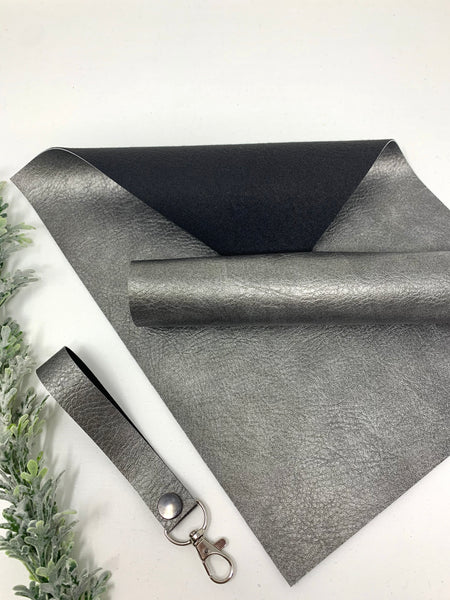 DARK SILVER faux leather sheets listing F008