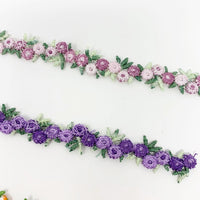 Embroidery floral trim ribbon DIY craft supplies
