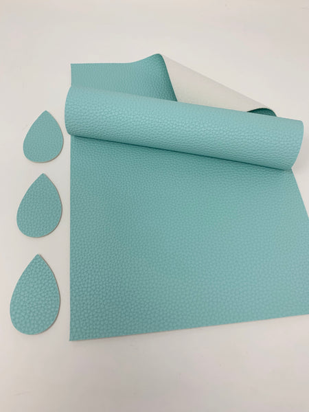 FS-900 Light Blue litchi design faux leather sheets. Craft supplies. Leather hair bow supplies.
