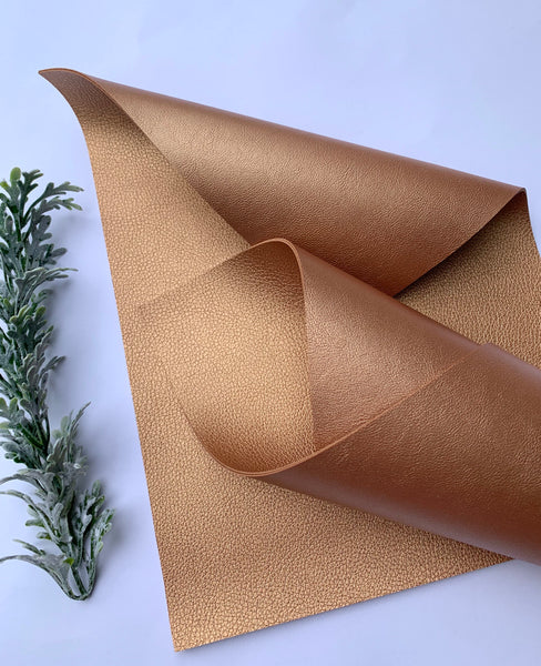 LIGHT BRONZE Double  Sided faux leather sheets