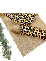 Leopard double sided leather sheets