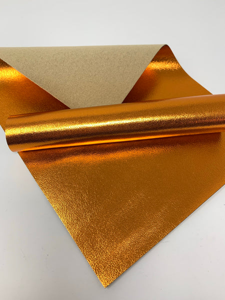 Bronze shiny faux leather sheets