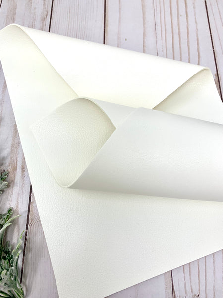 WHITE/WHITE Double  Sided faux leather sheets