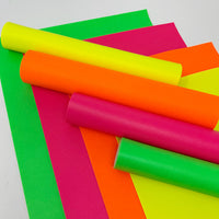 Neon solid colors faux leather sheets